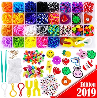 2200+ FunzBo Loom Rubber Bands for Bracelet - Colorful Jewelry Making Kit for Kids Craft and Art - Rainbow Band for Girls Age 5 6 7 8 9 Year Old DIY Handband Gift