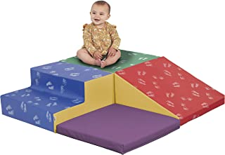 ECR4Kids SoftZone Little Me Foam Corner Climber - Indoor Active Play Structure for Toddlers and Kids - Soft Foam Play Set, Primary