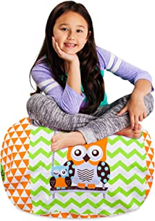 Posh Stuffable Kids Stuffed Animal Storage Bean Bag Chair Cover - Childrens Toy Organizer, Medium-27