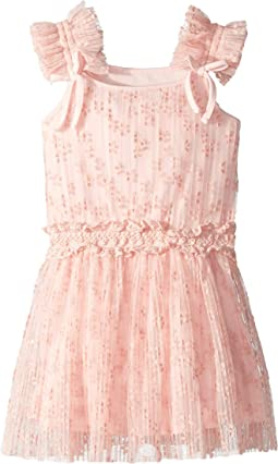 Flocked Mesh Dress (Toddler/Little Kids)