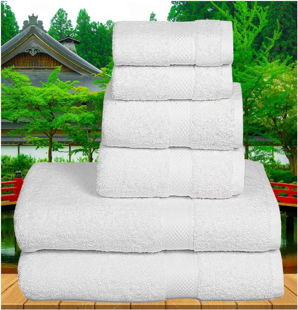 Premium Cotton 6 Piece Towel Set - Hand Bath Dealing full price reduction Max 71% OFF 2 Towels
