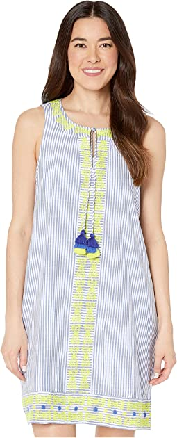 bc32657d474fb New. Marlin. 0. Vineyard Vines. Striped Embroidered Swing Cover-Up