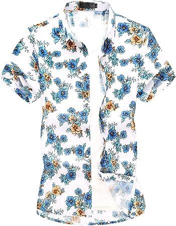 RelaxLife Camisa de Manga Corta para Hombre Tallas Grandes ...