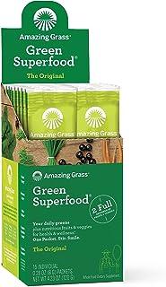 Amazing Grass Green Superfood: Super Greens Powder with Spirulina, Chlorella, Digestive Enzymes & Probiotics, Original, 15...
