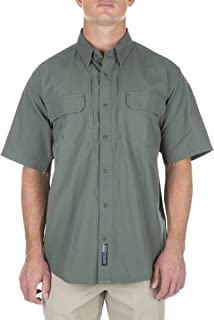 Tactical Men's Short Sleeve Low Profile Design Button Up Polo Shirt, Cotton Fabric, Style 71152