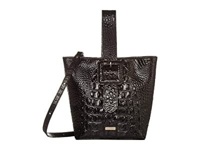 Brahmin Melbourne Faith Shoulder Bag (Black) Shoulder Handbags