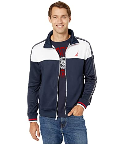 Nautica Color Blocked Track Jacket (Navy) Men