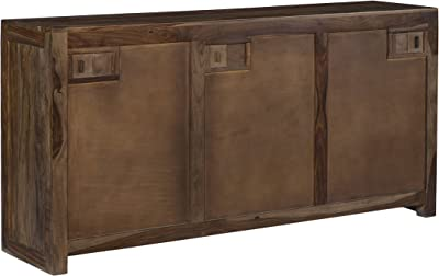 Treasure Trove Accents Four Drawer Two Door Media Console Brown