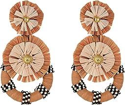Tiered Raffia Burst Earrings