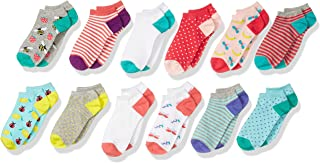 Amazon Brand - Spotted Zebra Kids' 12-Pack Low-Cut Socks