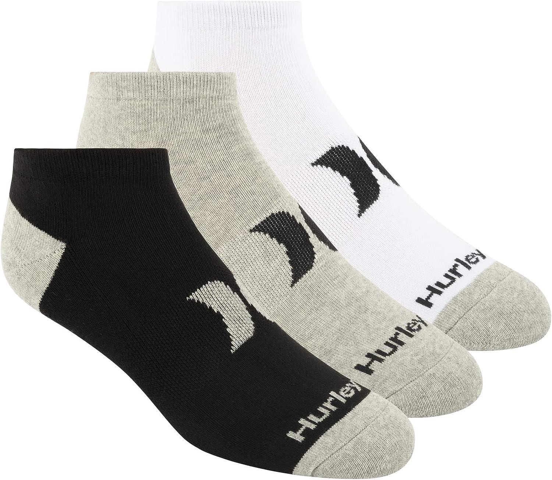 Hurley Men's 3 Pack Low Cut Socks