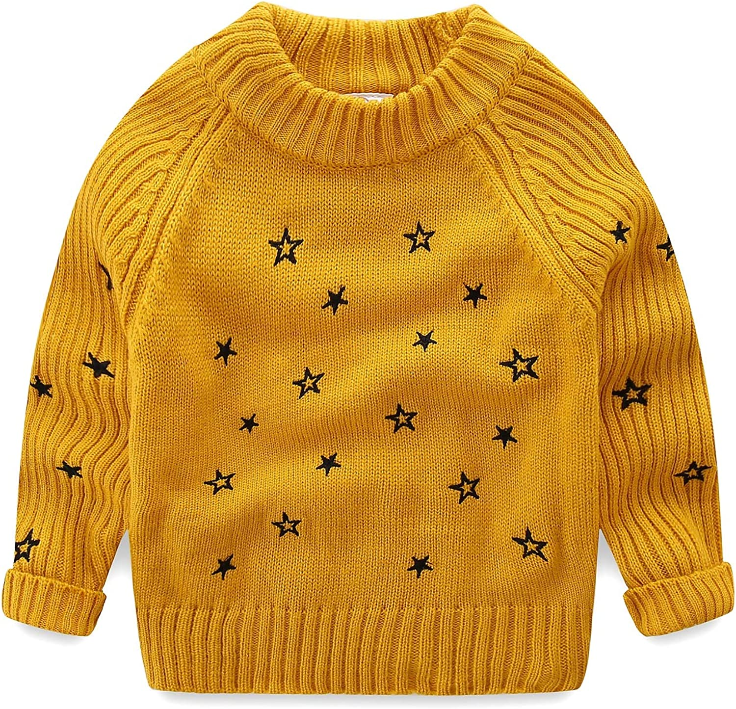 Mud Kingdom Toddler Girls Pullover Sacramento Mall Cute Sweaters Embroidered Popular brand Sta