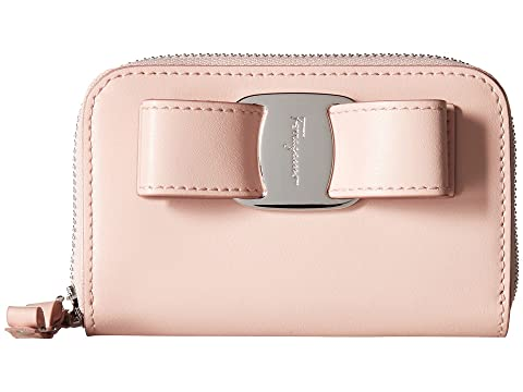 Salvatore Ferragamo Vara Bow Zip Around Wallet