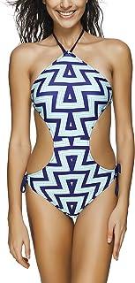 XFentech Halter Swimsuits Bikini Bottoms Siamese Swimwear Bathing Suit Womens Ladies