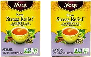 Yogi Kava Stress Relief Tea Bags, 16 Bags - 2 Pack