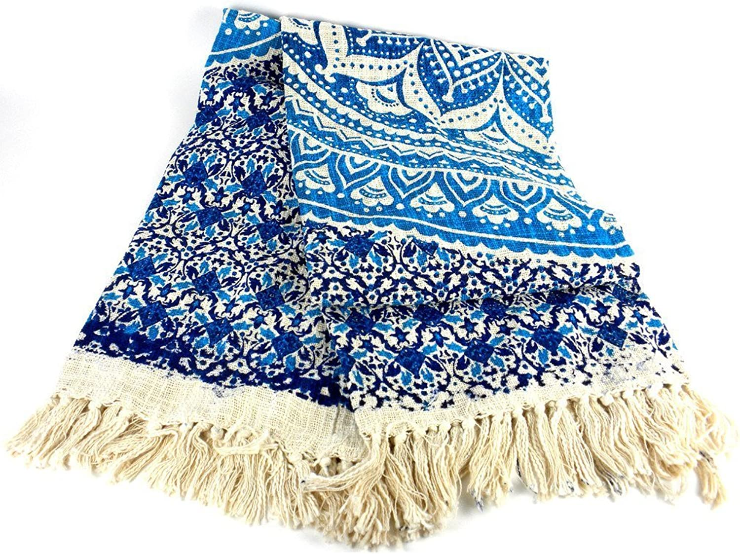 Mandala Throw bluee 50 by 70 inches  Mira
