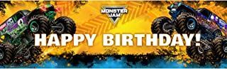 Monster Jam Party Supplies Decoration Vinyl Birthday Banner 18