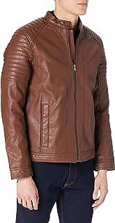 TOM TAILOR Men's Bikerstyle Faux Leather Jacket