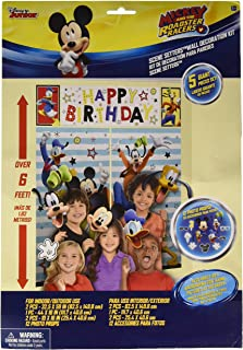 amscan Disney Mickey Mouse on the Go Scene Setter With Props, Multicolor, One Size