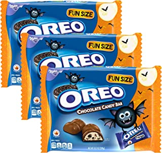 Oreo Fun Size Chocolate Candy Bar - Milk Chocolate - Halloween Chocolates Assortment Variety Pack Snack Candies Size 10.2 Ounces