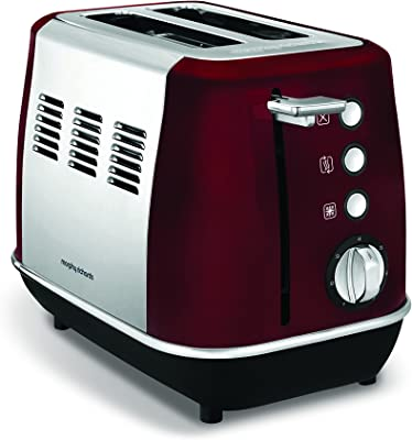 Morphy Richards Evoke 2 Slice Toaster 224408 Red Two Slice Toaster Stainless Steel Red Toaster