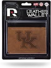 محفظة جلدية ثلاثية الطيات من NCAA Kentucky Wildcats مع جزء داخلي مصنوع يدويًا