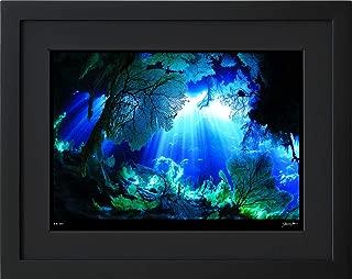 【写真工房アートフォト 額装写真】 ヌーベルヴァーグの光/ニューカレドニア/リフー島/ニューカレドニア(ブラック 大判サイズ 557mm×442mm)