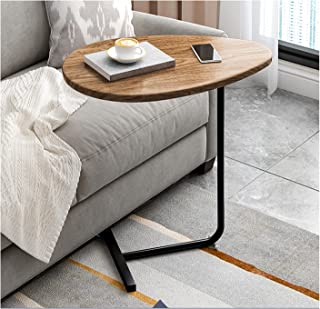 Light Luxury Drop-shaped Coffee Table, Unique Creative Side Table C-shaped Solid Support, Suitable for Living Room, Offic...
