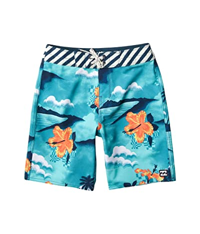 Billabong Kids Sundays Pro Swim Shorts (Big Kids) (Seagreen) Boy