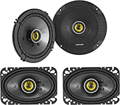 "(2) KICKER 46CSC654 6.5"" 300w Car Audio Speakers+(2) 46CSC464 4x6"" 300w Speakers photo"