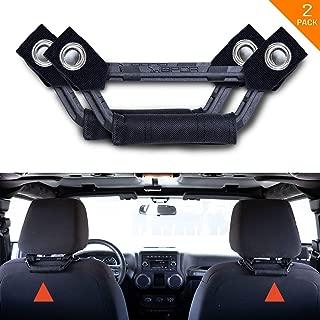 GPCA Headrest Grab Handles LITE Universal for Truck, Sports Car, Jeep, Easy Headrest Pole Mount for 4X4 Off-Road Backseat Passengers. GP Back Grip. Patent Pending. (Black)