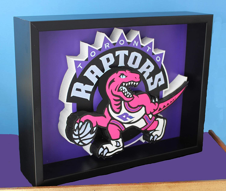 Toronto Raptors Basketball Logo Latest item Picture Max 89% OFF Custom Spor Art 3D Frame