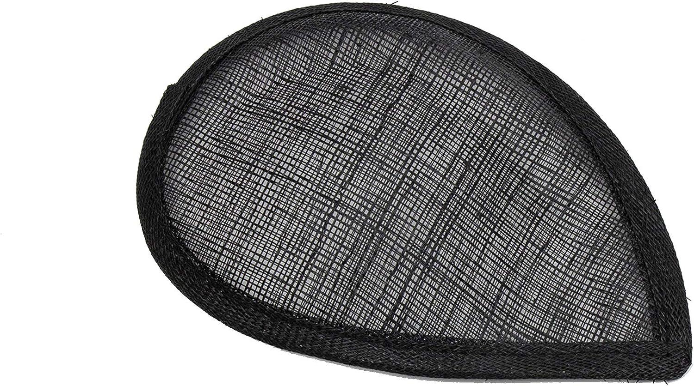 Asymmetric Teardrop Beveled Teardrop Fascinator Hat Base - Black
