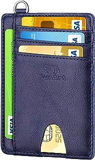 FurArt Portefeuille Minimaliste Fin, Porte-Cartes de Crédit avec Blocage Anti RFID, Les Femmes Hommes, Démontage Manille e...