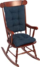 "Klear Vu Twillo Overstuffed Rocking Chair Set, Seat and Seatback Cushions, 17"" x 17"", Indigo"