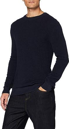 MERAKI Men's 100% Cotton Waffle Stitch Jumper