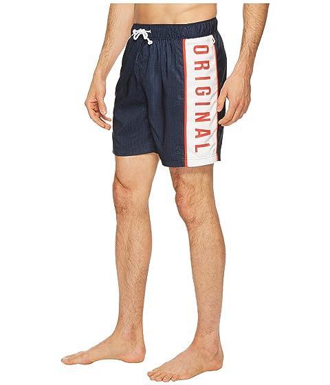 Elastic Color Penguin Stretch Swim Blocked Shorts Original Printed Logo qaXf4f