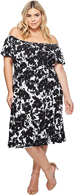 KARI LYN - Plus Size Athena Off the Shoulder Floral Dress