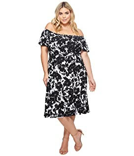 Plus Size Athena Off the Shoulder Floral Dress