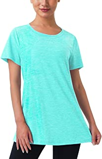Kimmery Workout Tops for Women Lightweight Quick Dry Short Sleeve Crewneck Athletic Shirts