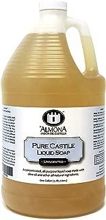 La Almona - Pure Castile Liquid Soap (Unscented), 1 Gallon