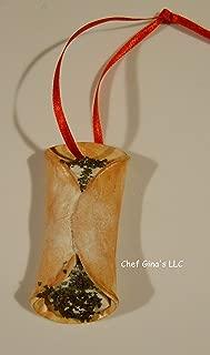 Chocolate Cannoli Christmas Ornament Chef Gina's