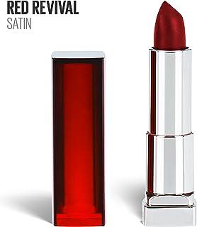 Maybelline New York 色センセーショナル赤口紅、マット口紅、レッドリバイバル、0.15オズ。 1つのカウント レッドリバイバル645