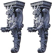 Design Toscano CL93826 Dragons of Darkmoor Castle Wall Caryatids (Set of 2)