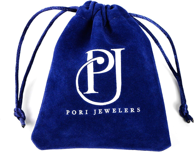 PORI JEWELERS 14K Gold 2.5mm Two Tone Diamond Cut Wedding Band Ring - Sizes 5-9