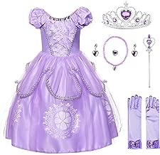 JerrisApparel Ragazze Costume da Principessa Sofia Compleanno Festa Vestito