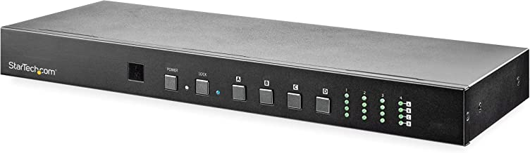 StarTech.com 4x4 HDMI Matrix Switch with Audio and Ethernet Control - 4K 60Hz - HDMI Switcher Box - Rack Mountable - with RS232 Control (VS424HD4K60)