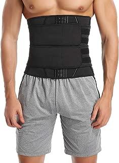 SLIMBELLE Sauna Waist Trimmer Belt, Mens Waist Trainer for Weight Loss and Back Support