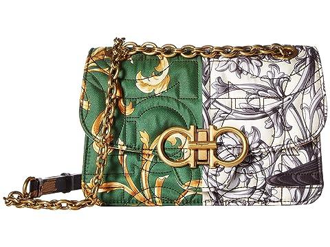 Salvatore Ferragamo Quilted Multi-Print Crossbody Bag