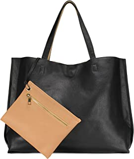 Scarleton Stylish Reversible Tote Handbag for Women, Vegan Leather Shoulder Bag, Hobo..